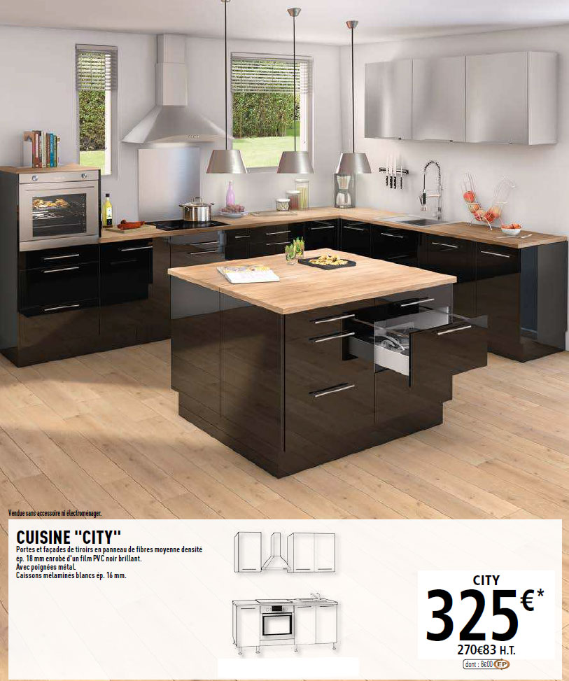 Cuisine brico dpt city with meuble four brico depot for Bricolage meuble cuisine