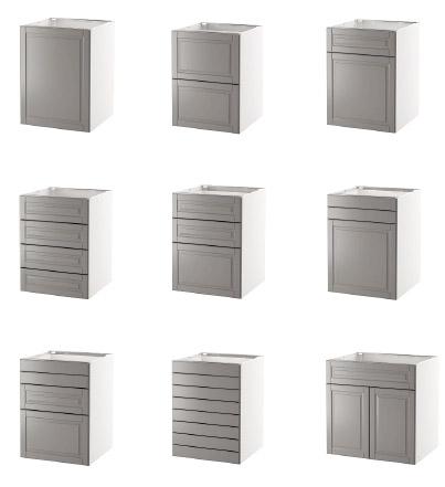 façades basses de cuisines Ikéa metod