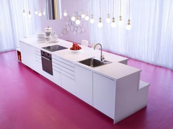 cuisine Ikéa veddinge blanche