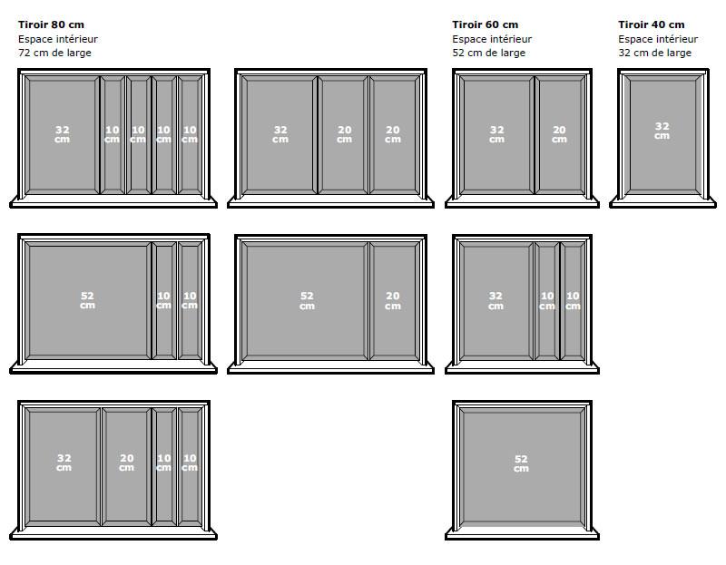 Aménagements intérieur de tiroir Ikéa